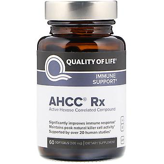 Quality of Life Labs, AHCC RX, 300 mg, 60 Softgels