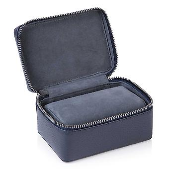 Indigo Blue Richmond Leather Two Watch Box