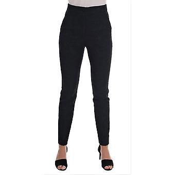 Dolce & Gabbana Siyah Çiçek Brokar Slim Fit Pantolon BYX1211-1