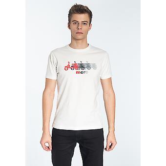 Merc MARDEN, Heren's Katoen T-shirt met Scooter Print