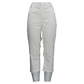 Laurie Felt Women's Jeans Silky White Denim Capri Pull-On White A352550