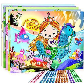 Handmade Crystal Paste Painting Mosaic Puzzle - Diy Diamond Stickers (10pcs