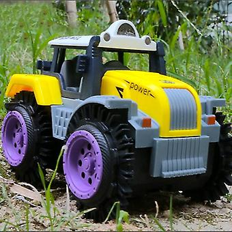 Electric Car Copii Flip Jucărie Electric Stunt Farmer Car Copil Dump Truck Simulare 4 Wheel Drive Electric Toy (culoare aleatoare)