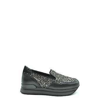 Hogan Ezbc030203 Women's Black Sequins Slip On Sneakers