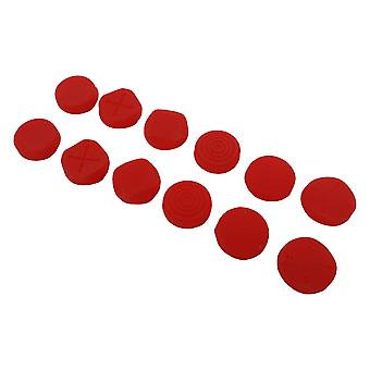 Thumb grips for ps vita 1000 2000 slim sony protective silicone caps - 12 pack red | zedlabz