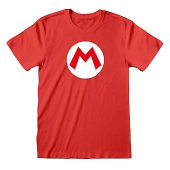Super Mario Unisex Volwassen Logo T-shirt