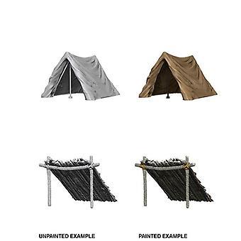 Tent & Lean-To WizKids Deep Cuts Unpainted Miniatures (Pack of 6)