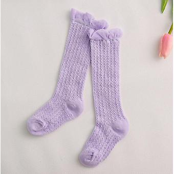 Kids Baby Girl Socks, Cotton Mesh Breathable, Long Socks
