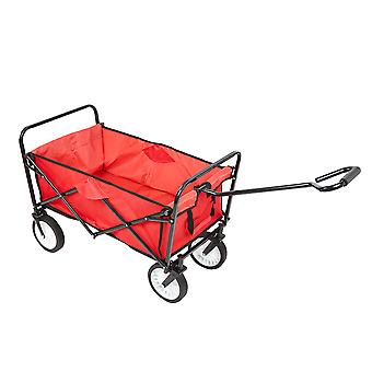 Heavy Duty Fully Foldable Pull-Along Garden Festival Camping Hand Cart Trolley