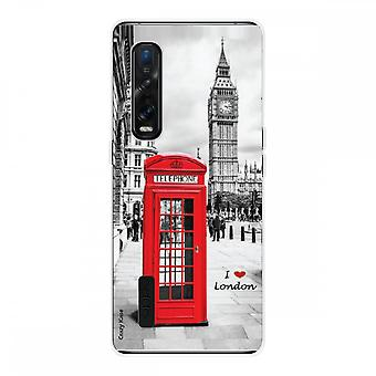 Hull For Oppo Find X2 Pro In Silicone Soft 1 Mm, I Love London