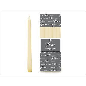 Prices Venetian Tapered Candles White 10in VW101028