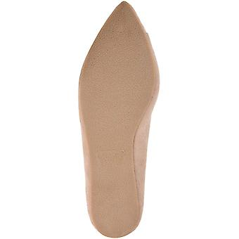 Brinley Co. Womens Mabry Faux Suede Button Scalloped Flats