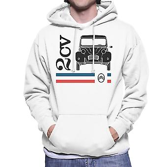 Citro?n Black 2CV Racing Stripes Men's Hooded Sweatshirt