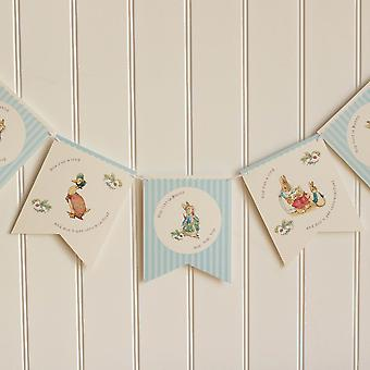 Peter Rabbit Bunting Garland Hop Little Bunny 3m Party Decoration