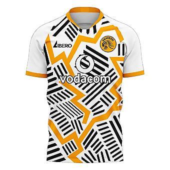 Kaizer Chiefs 2020-2021 Away Concept Jalkapallosarja (Libero) - Aikuinen pitkähihainen