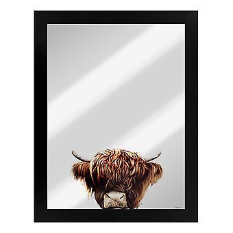 Neugierige Kreaturen Highland Kuh gespiegelt Plaque