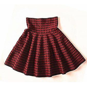 ربيع الخريف المرأة الجديدة تنورة الحياكة Woolen ميدي السيدات عالية الخصر عارضة