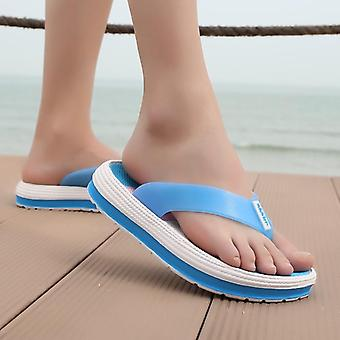 Summer Slippers, Casual  Flip Flops Beach Sandals Female Wedge Shoes Striped