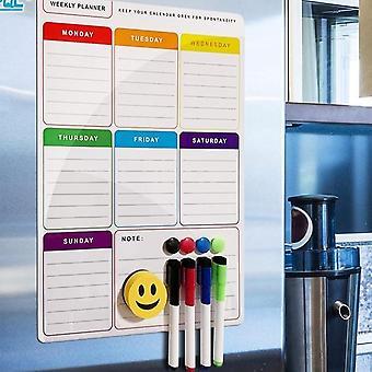 Elastyczna tablica informacyjna A3 Magnetic White /tygodniowy plan