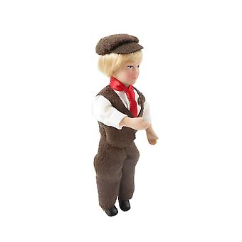 Dolls House Victorian Peasant Boy In Cap Porcelain 1:12 Scale People