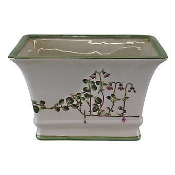 Ceramic Rectangular Planter, Width 25cm