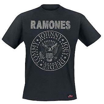 Ramones Seal Hey Ho Official Tee T-Shirt Mens Unisex