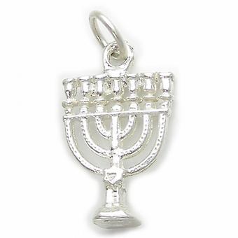 Menorah Sterling Silver Charm .925 X 1 Charmes Chandeliers Juifs - 4640
