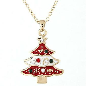 Christmas Tree Design Pendant And Necklace