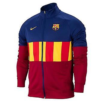 2020-2021 Barcelona I96 Anthem Jacket (Deep Royal)