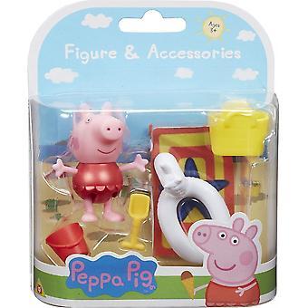 Peppa Pig Beach Thema Peppa Rood Badpak Figuur & Accessoire Pack