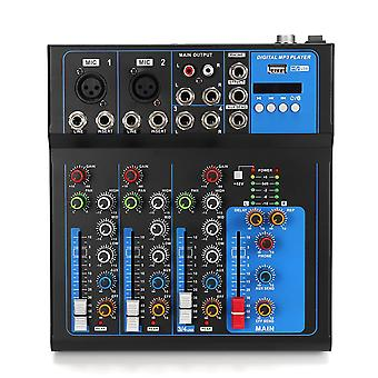 4 Channel bluetooth Professional Audio Mixer  DJ Mic Mixing Console EU US Plug