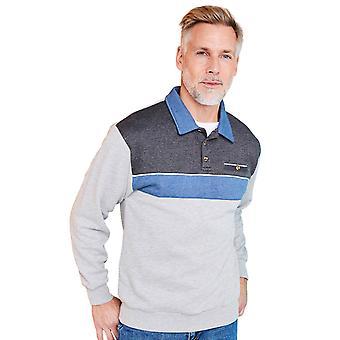 Pegasus Pegasus sweatshirt with chest pocket and tailored collar