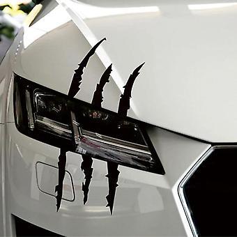Hauska auto tarra heijastava hirviö naarmu raita kynsi merkit automaattinen ajovalo
