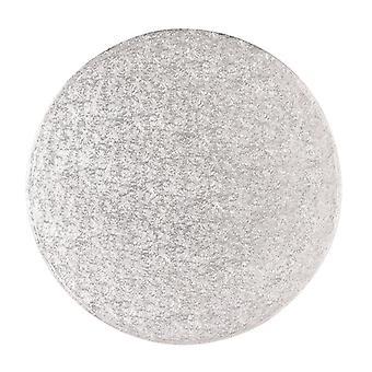 "17"" (431mm) Cake Board Round Silver Fern - single"