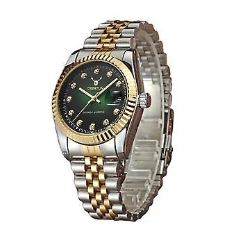 Ladies Watch Rose Gold Silver Women Woman Smart Watches Two Tone Green
