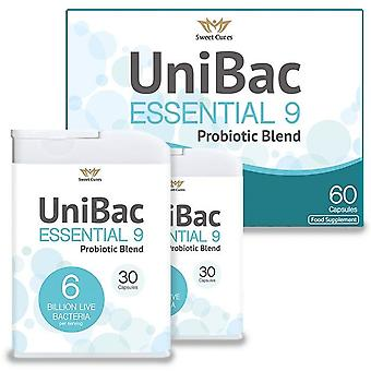 Sweet Cures UniBac Essential 9 Probiotic Blend Caps 60