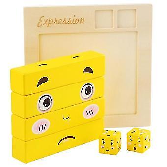 Große Gesicht ändern Rubik & #39;s Cube Baustein Spielzeug, Puzzle Kinder & #39;s pädagogische Eltern-Kind-Spiel