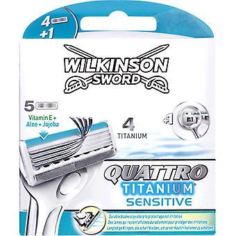 Wilkinson Quattro Titanium Sensitive 4+1 Head Charger
