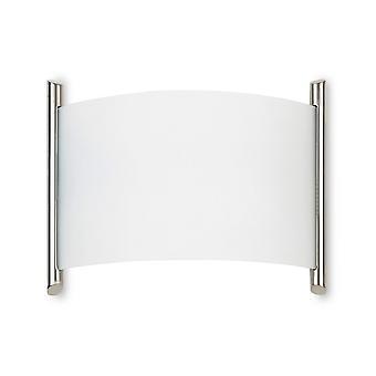 Forlight Niza - Huuhtelu seinäkaluste Satiini Nikkeli E27 60W 970lm