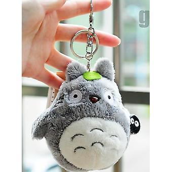 Mini 10cm Min nabo Totoro Plysj Leketøy Kawaii Anime Nøkkelring Leketøy