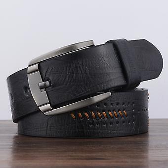 Dandali XX818 Pánské Módní Retro Kožený pás pas, Délka: 110cm (černá)