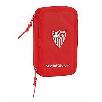 Double Pencil Case Sevilla Fútbol Club Red (28 pcs)
