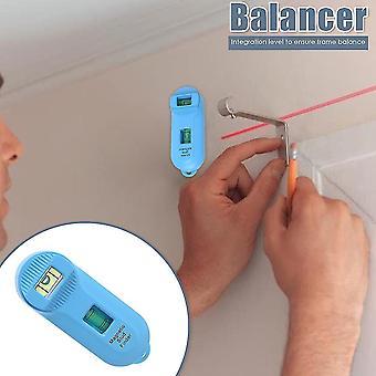 Localizador eletrônico do detector de sensores do centro de parede com balanceador resistente facilmente carregando ferramentas leves para pregos de metal