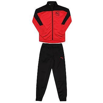 Pojke's Puma Junior Style Polo Suit i svart