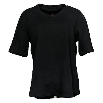 Isaac Mizrahi Live! Women's Top Tunic Black A289635