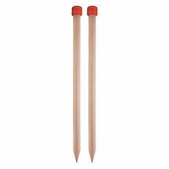 KnitPro Jumbo Birch: Épingles à tricoter: Simple-Ended: 30cm x 20.00mm