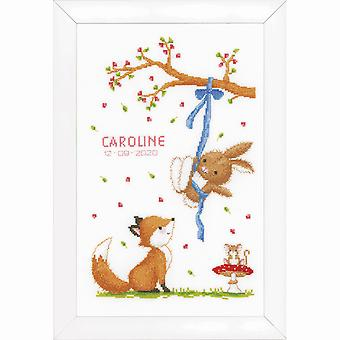 Vervaco Counted Cross Stitch Kit: Forest Friends