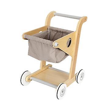Kids Wood Shopping Cart
