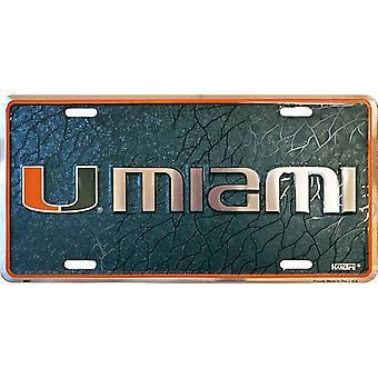 Miami Hurricanes NCAA Mosaic Registreringsskylt
