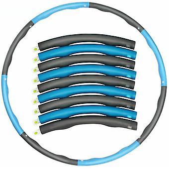 7 Knots Fitness Hoop Blue Removable Yoga Hoop Waist Exercise Slimming Sport Hoop